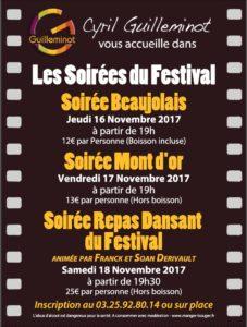 Les soirées du Festival 2017 - Guilleminot Traiteur