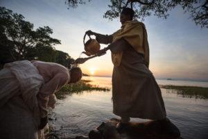 Le lac Tana en Ethiopie, source du Nil Bleu lors de l'épiphanie orthodoxe - Franck Vogel