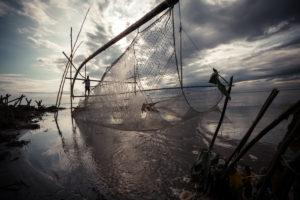 Pêche sur le Brahmapoutre en Inde - Franck Vogel