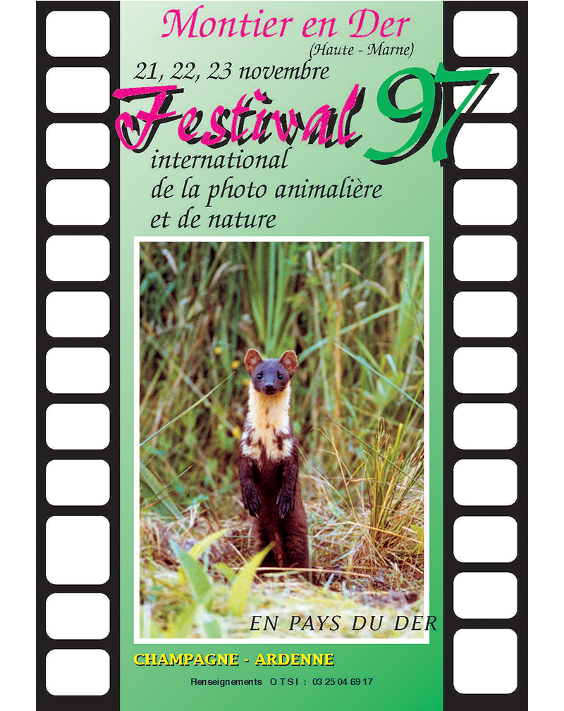 Affiche du Festival International de la Photo Animalière et de Nature de Montier-en-Der 1997
