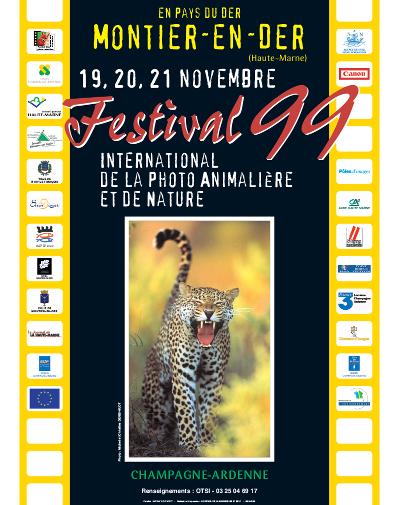 Affiche du Festival International de la Photo Animalière et de Nature de Montier-en-Der 1999