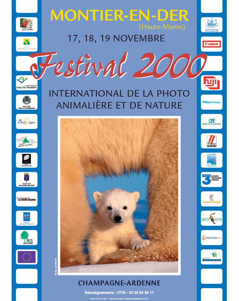 Affiche du Festival International de la Photo Animalière et de Nature de Montier-en-Der 2000