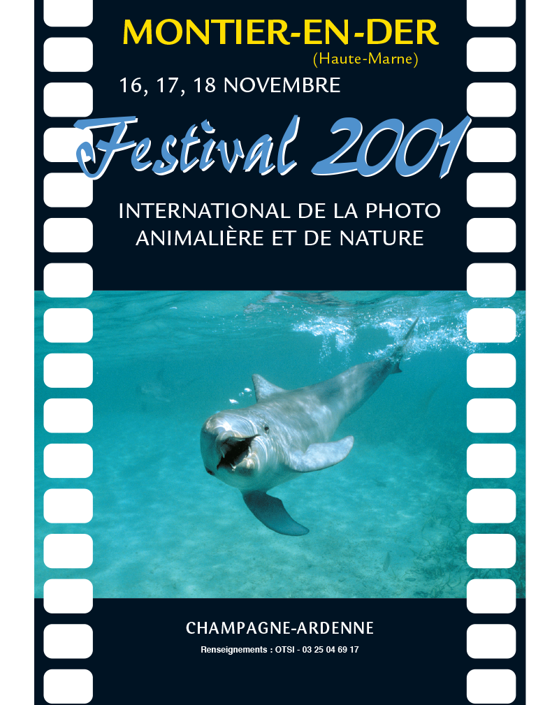 Affiche du Festival International de la Photo Animalière et de Nature de Montier-en-Der 2001