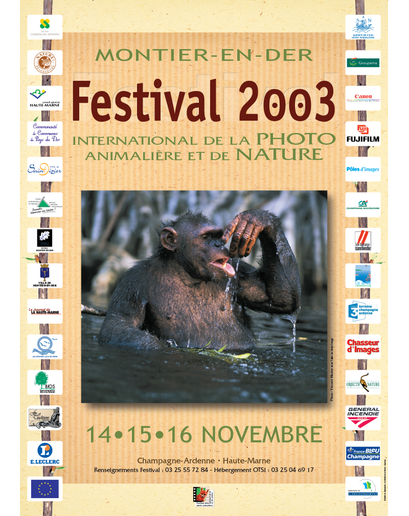 Affiche du Festival International de la Photo Animalière et de Nature de Montier-en-Der 2003