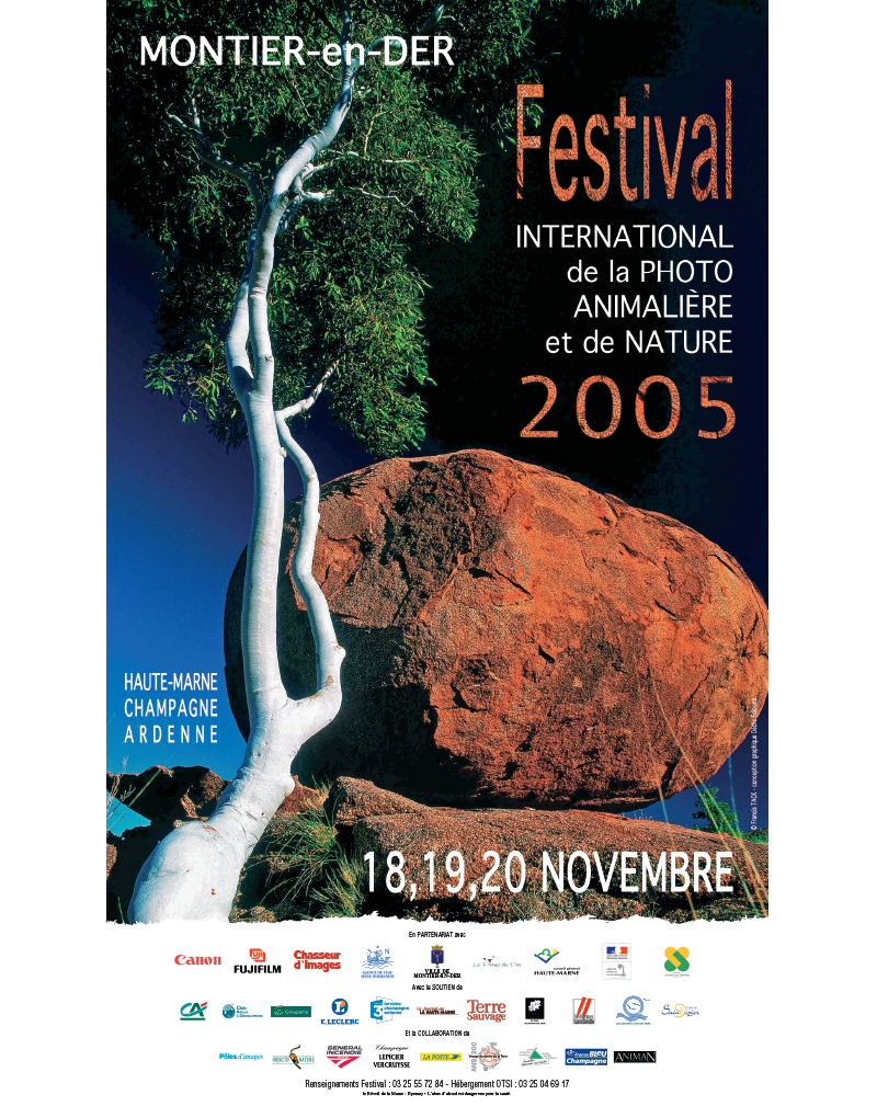Affiche du Festival International de la Photo Animalière et de Nature de Montier-en-Der 2005