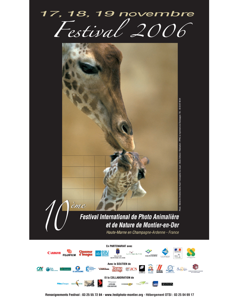 Affiche du Festival International de la Photo Animalière et de Nature de Montier-en-Der 2006