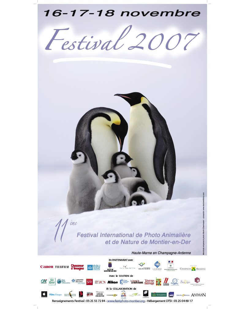 Affiche du Festival International de la Photo Animalière et de Nature de Montier-en-Der 2007