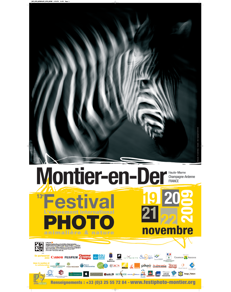 Affiche du Festival International de la Photo Animalière et de Nature de Montier-en-Der 2009