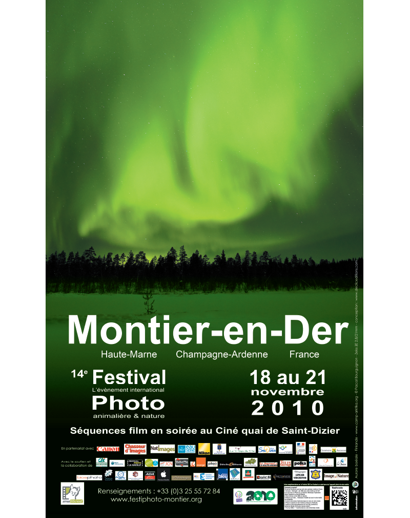 Affiche du Festival International de la Photo Animalière et de Nature de Montier-en-Der 2010
