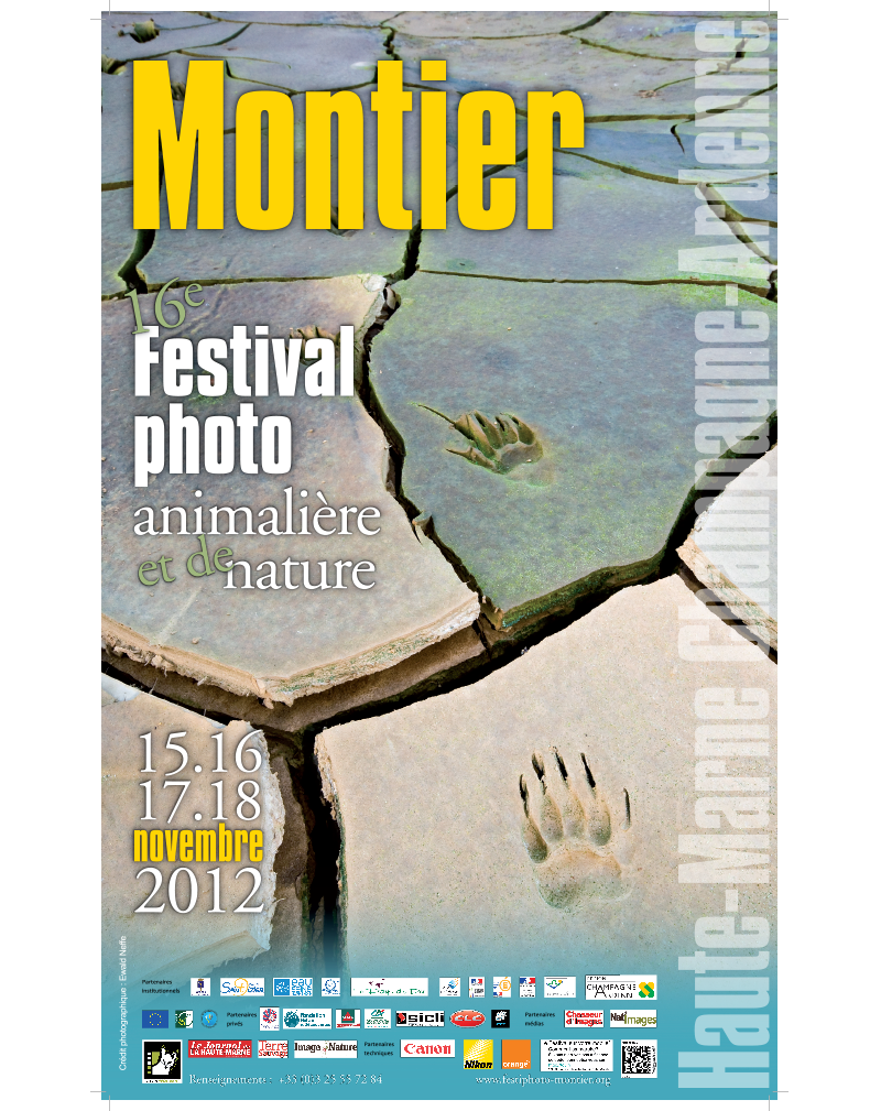 Affiche du Festival International de la Photo Animalière et de Nature de Montier-en-Der 2012