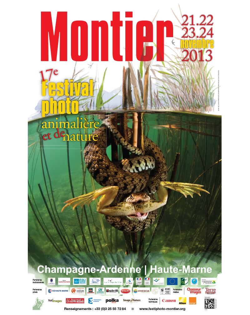 Affiche du Festival International de la Photo Animalière et de Nature de Montier-en-Der 2013