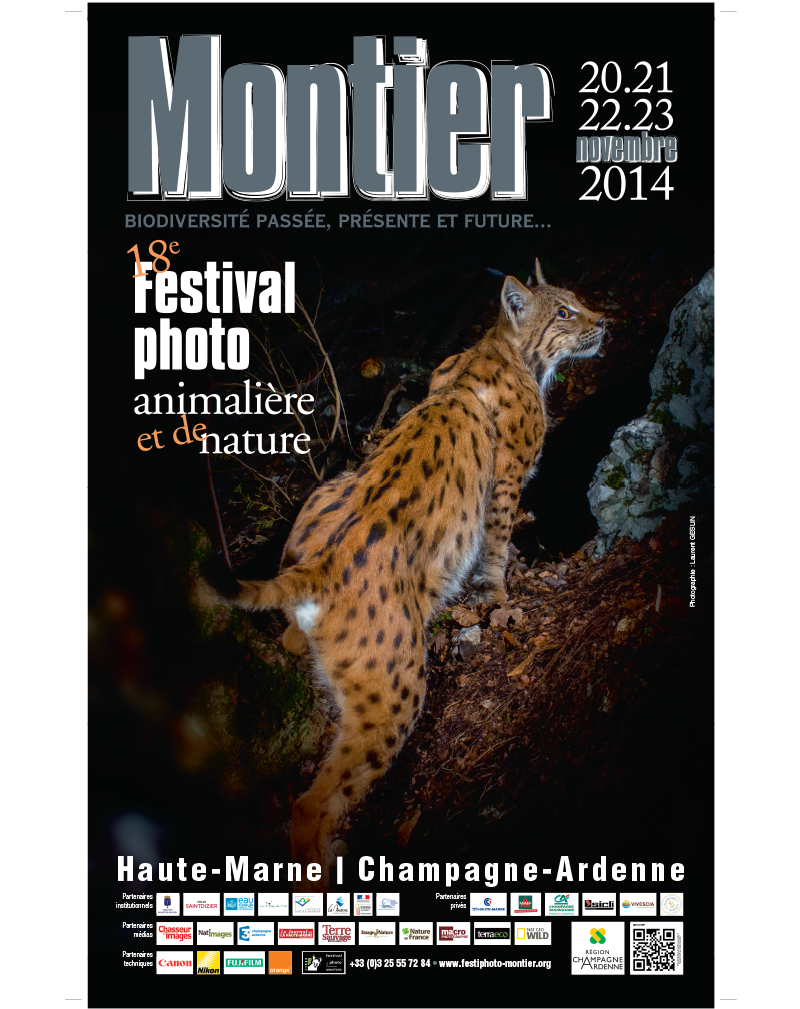 Affiche du Festival International de la Photo Animalière et de Nature de Montier-en-Der 2014