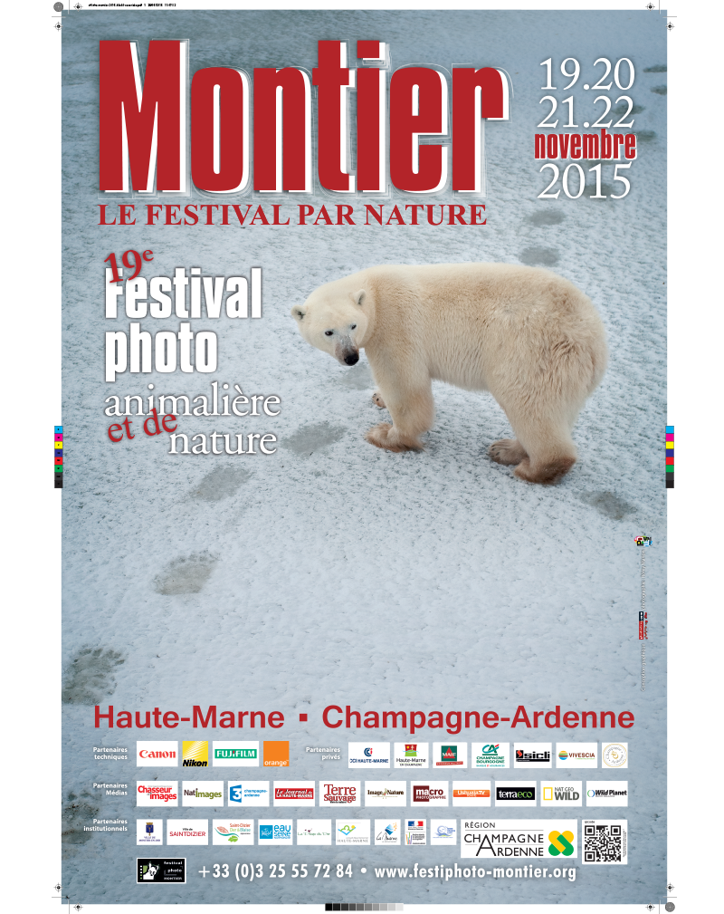 Affiche du Festival International de la Photo Animalière et de Nature de Montier-en-Der 2015