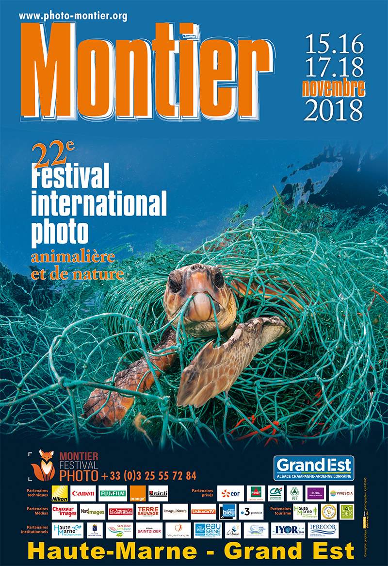 Affiche du Festival International de la Photo Animalière et de Nature de Montier-en-Der 2018