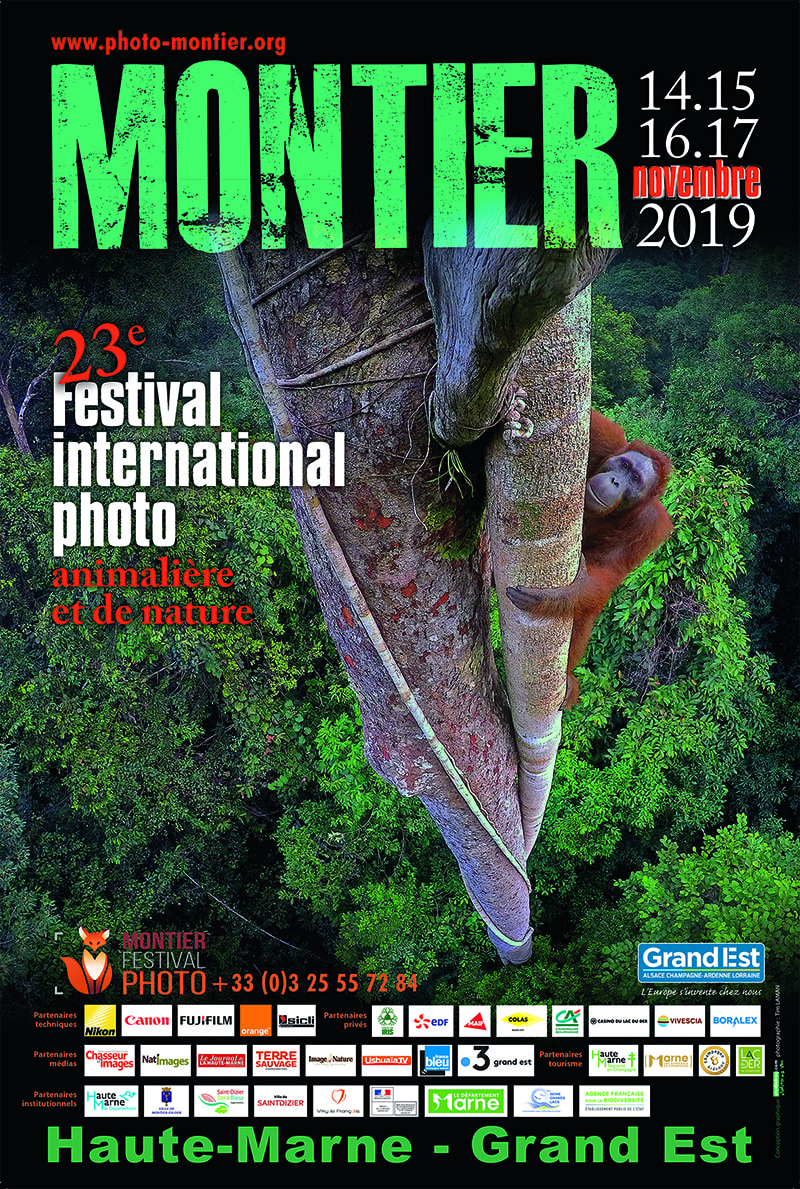 Affiche du Festival International de la Photo Animalière et de Nature de Montier-en-Der 2019