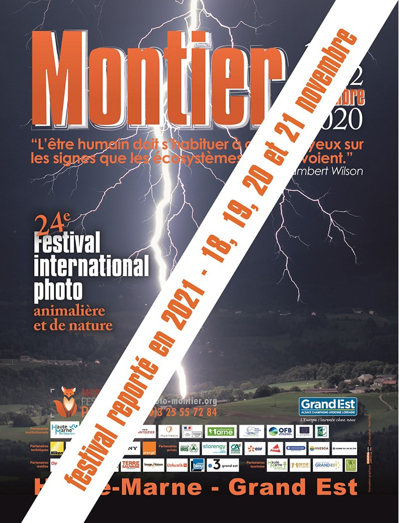 Affiche du Festival International de la Photo Animalière et de Nature de Montier-en-Der 2020