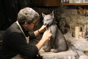 B.Colin dans son atelier - B.Colin