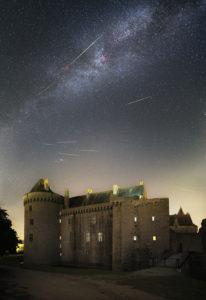 Perséides sur le château de Suscinio - Bastien Foucher