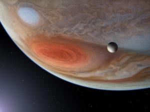 Grande Tâche rouge de Jupiter et Europa - Jupiter's Great Red spot & Europa - P.CARRIL