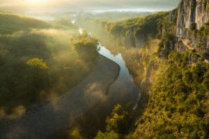 Brume sur la vallée de l'Ardèche - Simon Bugnon