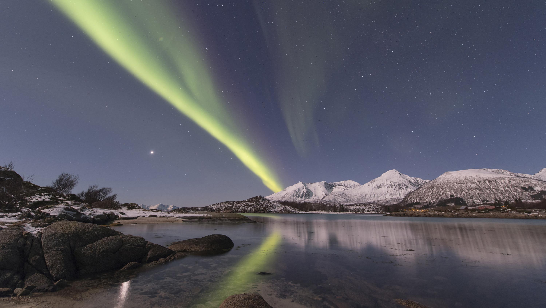 Pleine lune sur l'île de Senja - Norvège - © Jean-Marc Perigaud