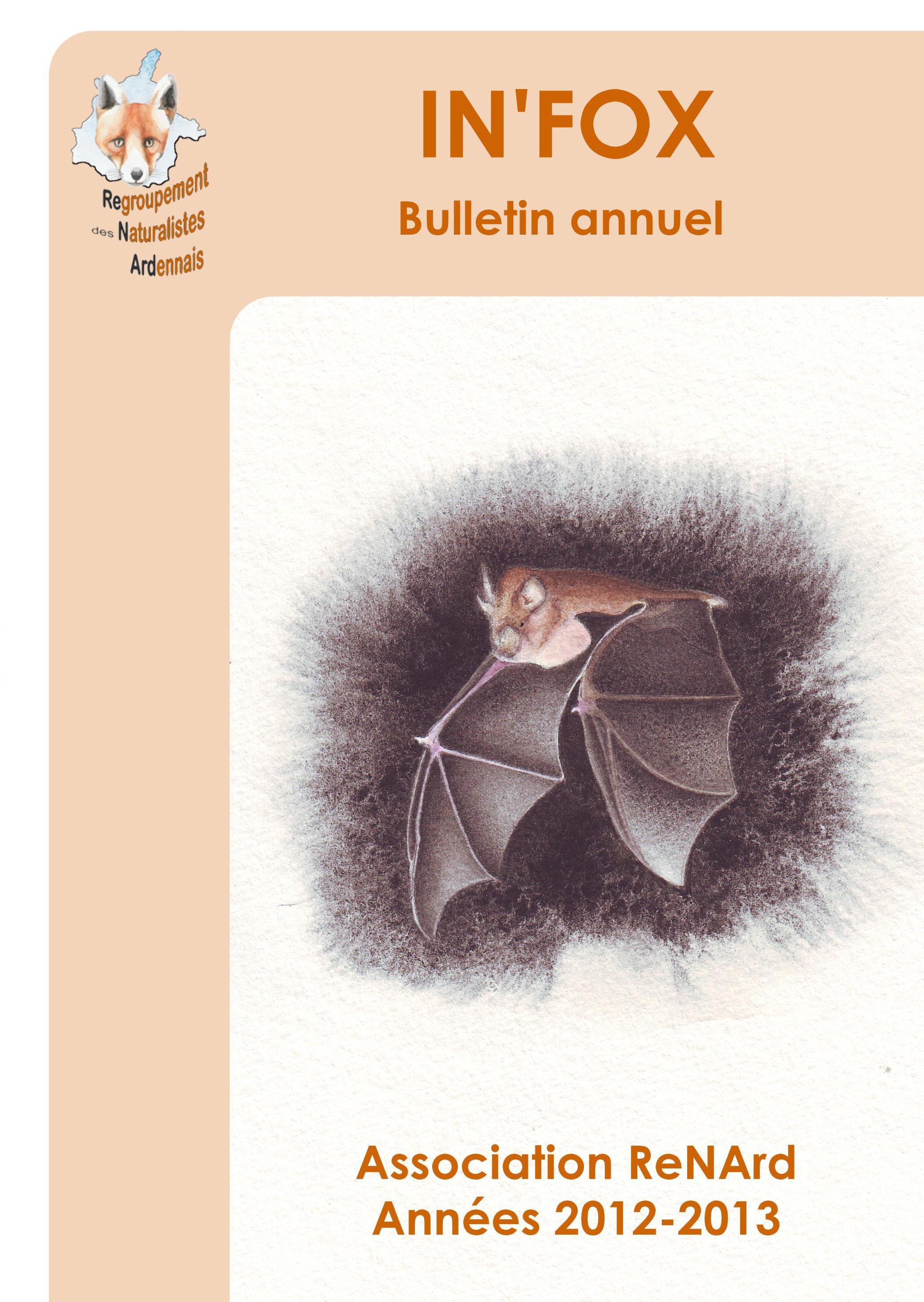 Chauves-souris, salticidées, baguages d'oiseaux... (In'fox 2012-2013)